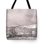 Low Clouds On The Colorado Rocky Mountain Foothills 3 Bw Tote Bag