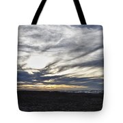 Low Hanging Clouds At Sunset Tote Bag