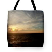 Low Sun Over The Pacific Tote Bag