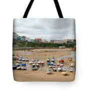 Low Tide At Tenby Tote Bag