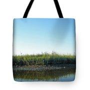 Low Tide In The Tidal Creek Tote Bag