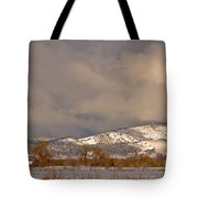 Low Winter Storm Clouds Colorado Rocky Mountain Foothills 2 Tote Bag