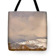 Low Winter Storm Clouds Colorado Rocky Mountain Foothills 4 Tote Bag