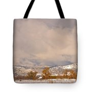Low Winter Storm Clouds Colorado Rocky Mountain Foothills 5 Tote Bag