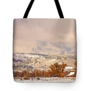 Low Winter Storm Clouds Colorado Rocky Mountain Foothills 6 Tote Bag
