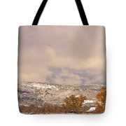 Low Winter Storm Clouds Colorado Rocky Mountain Foothills 7 Tote Bag