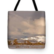 Low Winter Storm Clouds Colorado Rocky Mountain Foothills Tote Bag