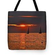 Red Maritime Dream Tote Bag