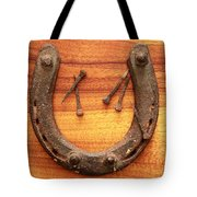 Lucky Horseshoe With Nails Tote Bag