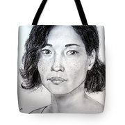 Lucy Liu Portrait Tote Bag
