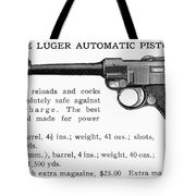 Luger Automatic Pistol Tote Bag