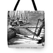 Lumbering: Saw, 1879 Tote Bag
