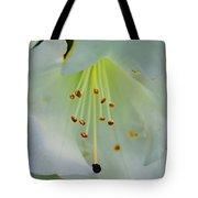 Luminous White Tiger Lily Tote Bag