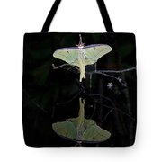 Luna Moth And Reflection Tote Bag