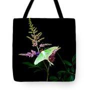 Luna Moth On Astilby Flower Tote Bag