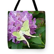 Luna Moth On Rhododendron 1 Tote Bag