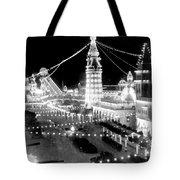Luna Park - Coney Island - New York At Night - C 1903  Tote Bag