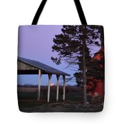 Lunar Eclipse At The Farm Tote Bag