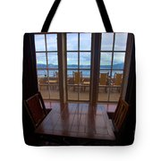 Lunch With A View Tote Bag