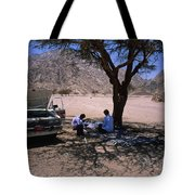Lunchtime In The Desert Of Sinai Tote Bag