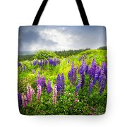 Lupin Flowers In Newfoundland Tote Bag