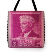 Luther Burbank Postage Stamp Tote Bag