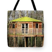 Luxury Tree House In The Woods Tote Bag
