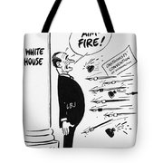Lyndon B. Johnson: Cartoon Tote Bag by Granger