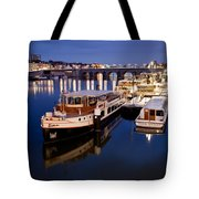 Maastricht Jetty On Maas River Tote Bag