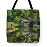 Mabry Mill And Pond With Reflection Tote Bag