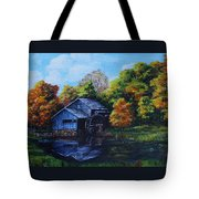 Mabry Mill In Autumn Tote Bag