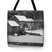 Mabry Mill In Black And White Tote Bag by Joe Elliott