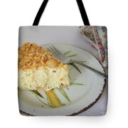Macadamia Nut Cream Pie Slice Tote Bag