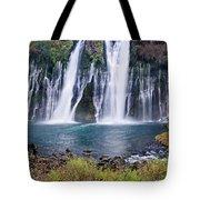 Macarthur-burney Falls Panorama Tote Bag