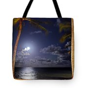 Maceio - Brazil - Ponta Verde Beach Under The Moonlit Tote Bag