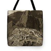 Machu Picchu Sepia Tote Bag