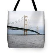 Mackinac Bridge From Water 2 Tote Bag