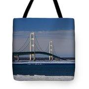 Mackinac Bridge In Winter 2 Tote Bag
