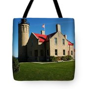 Mackinac Island Lighthouse Tote Bag