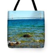 Mackinac On The Rocks Tote Bag