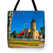 Mackinac Point Light Tote Bag