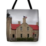 Mackinaw City Lighthouse Number 2446 Tote Bag