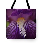 Macro In Purple Tote Bag