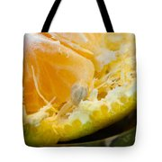 Macro Photo Of Orange Peel And Pips And Main Fleshy Part Tote Bag
