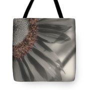 Macro Sunflower In Partial Color Tote Bag