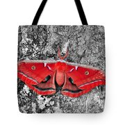 Madam Moth - Red White And Black Tote Bag