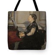Madame Manet At The Piano Tote Bag