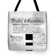 Madison: Diploma, 1772 Tote Bag