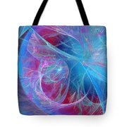 Magenta Blue Tote Bag