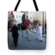 Magi Going To Manger Grotto Tote Bag